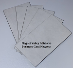 Ultra-thin 12 mil Adhesive Business Card Peel and Stick Magnets
