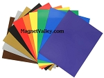 Colored Magnetic Vinyl Sheets 8.5